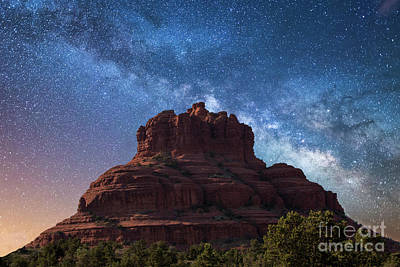 Photograph - Below The Milky Way At Bell Rock by Robert Loe