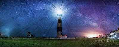 Photograph - Below The Milky Way At Bodie Island Light House by Robert Loe