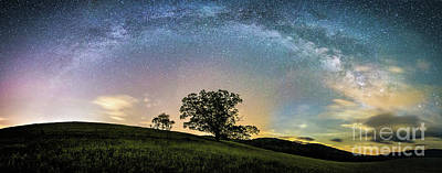 Photograph - Below The Milky Way At The Blue Ridge Mountains by Robert Loe