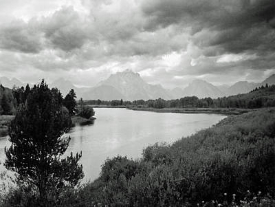 Art Print featuring the photograph Below The Tetons by Allan McConnell