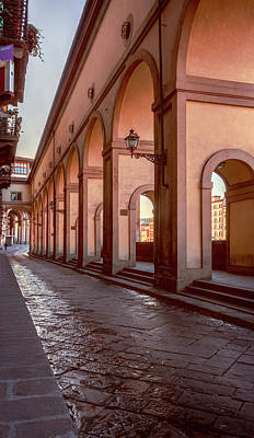Photograph - Below The Visari Corridor Florence Italy by Joan Carroll