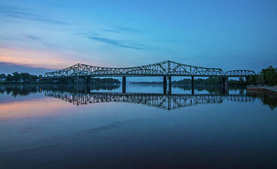 Photograph - Belpre Bridge At Sunset by Jonny D