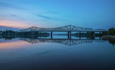 Photograph - Belpre Bridge At Sunset by Jonny D