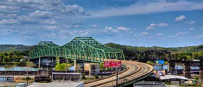 Photograph - Belpre Bridge Downtown Pkb by Jonny D