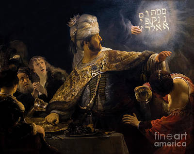 Belshazzar's Feast, By Rembrandt, Circa 1636-8,  National Galler Art Print by Peter Barritt