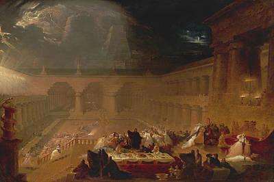 Religious Art Painting - Belshazzar's Feast by John Martin