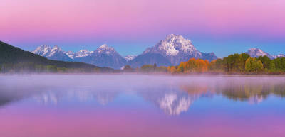 Photograph - Belt Of Venus At Oxbow Bend by Darren White