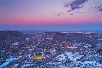 Royalty-Free and Rights-Managed Images - Belt of Venus over Golden Colorado by Darren White