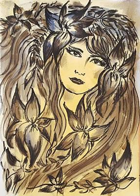Beltane Goddess Art Print by Pia Tohveri