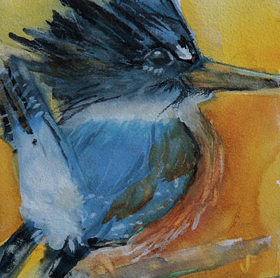 Painting - Belted Kingfisher by Jani Freimann