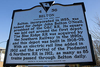 Photograph - Belton Depot Historical Marker 10 by Joseph C Hinson Photography