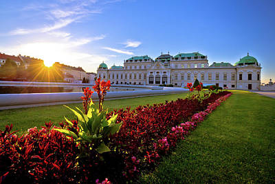 Photograph - Belvedere Park In Vienna Sunset View by Brch Photography