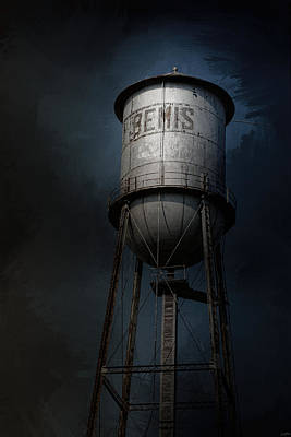 Bemis Photograph - Bemis Water Tower by Jai Johnson