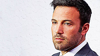 Ben Affleck Wall Art - Painting - Ben Affleck by Queso Espinosa