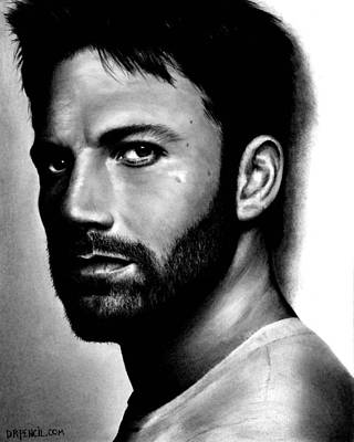 Ben Affleck Wall Art - Drawing - Ben Affleck by Rick Fortson