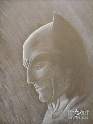 Ben Affleck Drawing - Ben As Batman by Josetta Castner