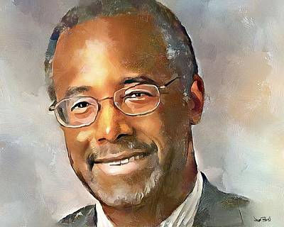 Painting - Ben Carson by Wayne Pascall