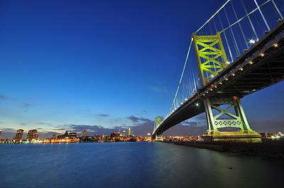 Wild Weather - Ben Franklin Bridge 3 by Domenico Ditanna