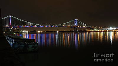Photograph - Ben Franklin Bridge At Night by Traci Law