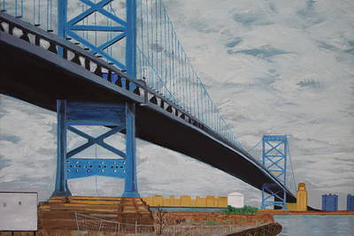 Ben Franklin Bridge Original by Michael Walsh