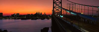 Ben Franklin Bridge Photograph - Ben Franklin Bridge by Panoramic Images