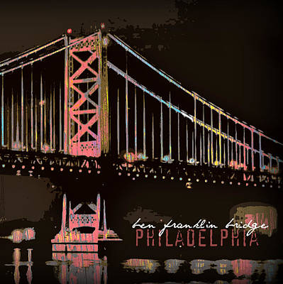 Ben Franklin Bridge Philadelphia Art Print by Brandi Fitzgerald