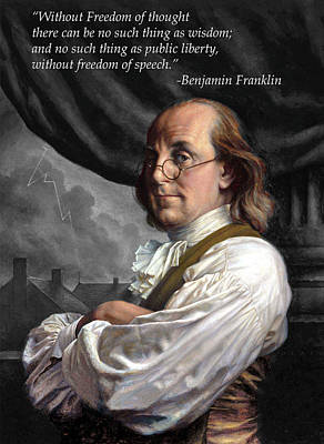 Photograph - Ben Franklin Freedom by C H Apperson