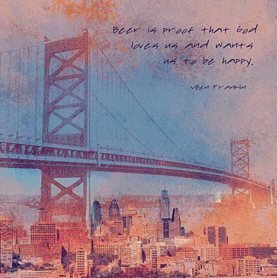 Ben Franklin Quote Print by Brandi Fitzgerald