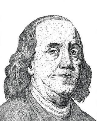 Ben Franklin Stippled Original