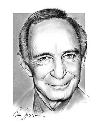 Drawings Rights Managed Images - Ben Gazzara Royalty-Free Image by Greg Joens