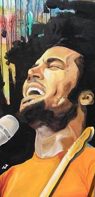 Painting - Ben Harper by Matt Burke