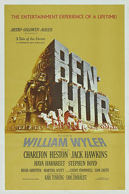 Mixed Media - Ben Hur 1959 by Movie Poster Prints