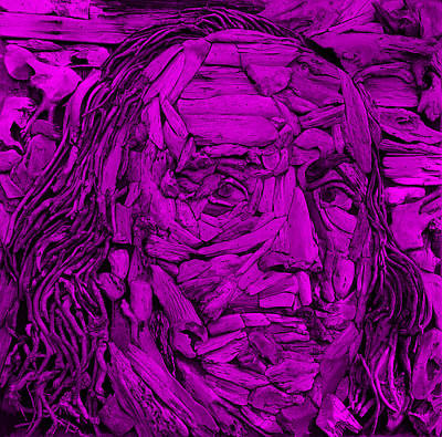 Fruits And Vegetables Still Life - Ben In Wood Purple by Rob Hans