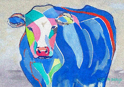 Painting - Ben Jerrys Cow Fantasy by Sue Prideaux