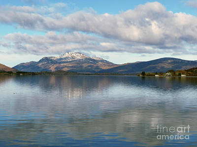 Photograph -  Loch Lomond - Cloud Reflections by Phil Banks