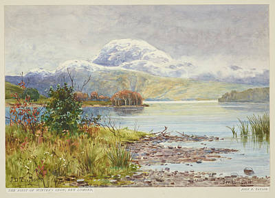 First Snow Painting - Ben Lomond by Taylor
