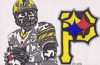 Drawing - Ben Roethlisberger  by Jeremiah Colley