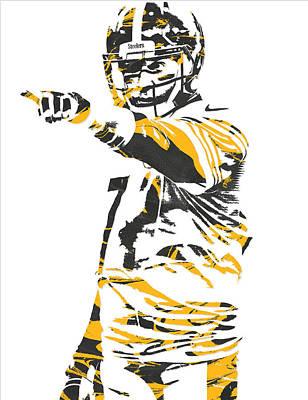 Mixed Media - Ben Roethlisberger Pittsburgh Steelers Pixel Art 3 by Joe Hamilton