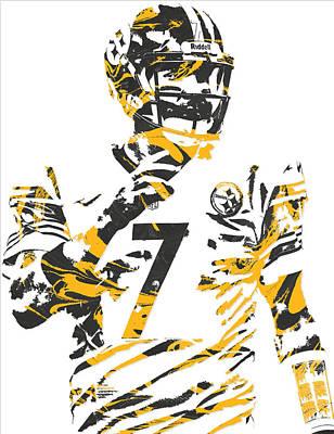 Mixed Media - Ben Roethlisberger Pittsburgh Steelers Pixel Art 4 by Joe Hamilton