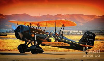 Photograph - Ben Scott's Stearman Speedmail 4e Version 2 by Gus McCrea