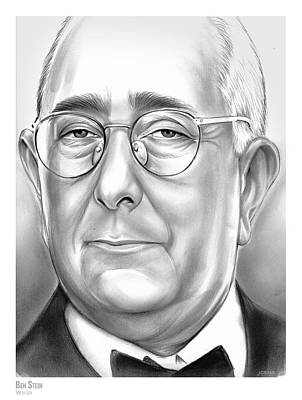 Drawing - Ben Stein by Greg Joens