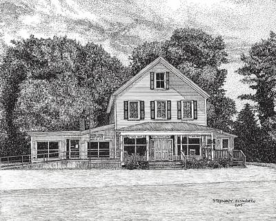 Country Store Drawing - Bena Country Store by Stephany Elsworth