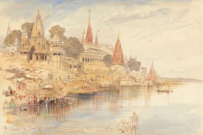 Drawing - Benares by Edward Lear
