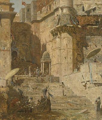Painting - Benares by Marius Bauer
