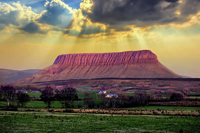 Photograph - Benbulben In Co. Sligo Ireland by John Carver