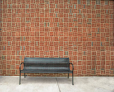 Photograph - Bench 2017 02 by Jim Dollar