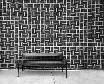 Art Print featuring the photograph Bench 2017 Bw by Jim Dollar