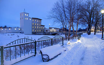 Photograph - Bench And Ames Mill In Northfield by Joe Miller