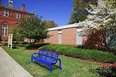 Photograph - Bench At Johnson C Smith University by Jill Lang