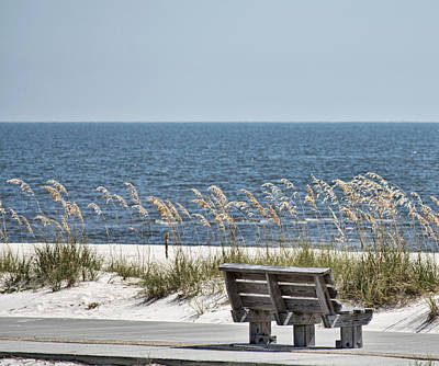 Photograph - Bench At The Beach by Cathy Jourdan